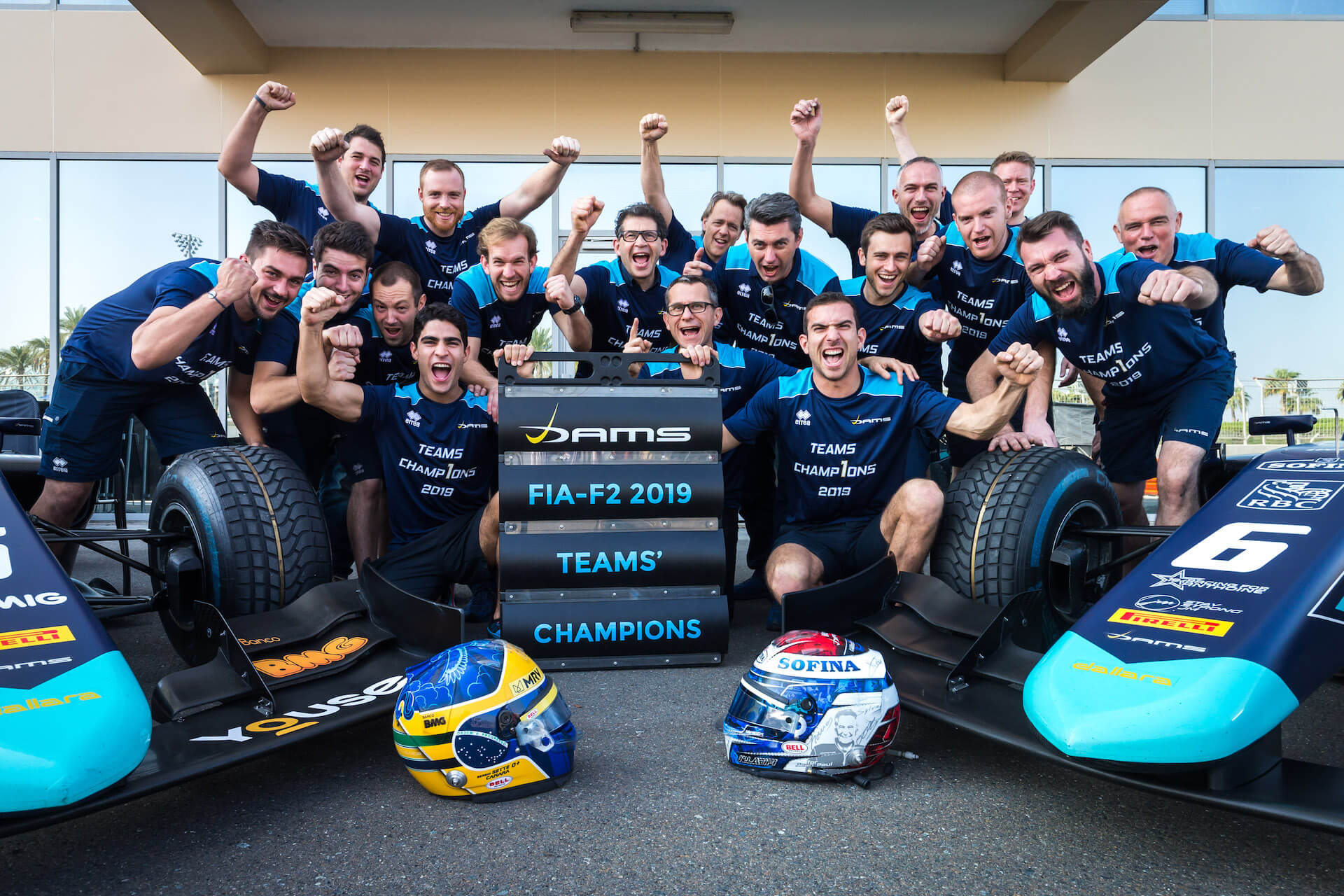 DAMS celebrates winning the 2019 F2 teams' title