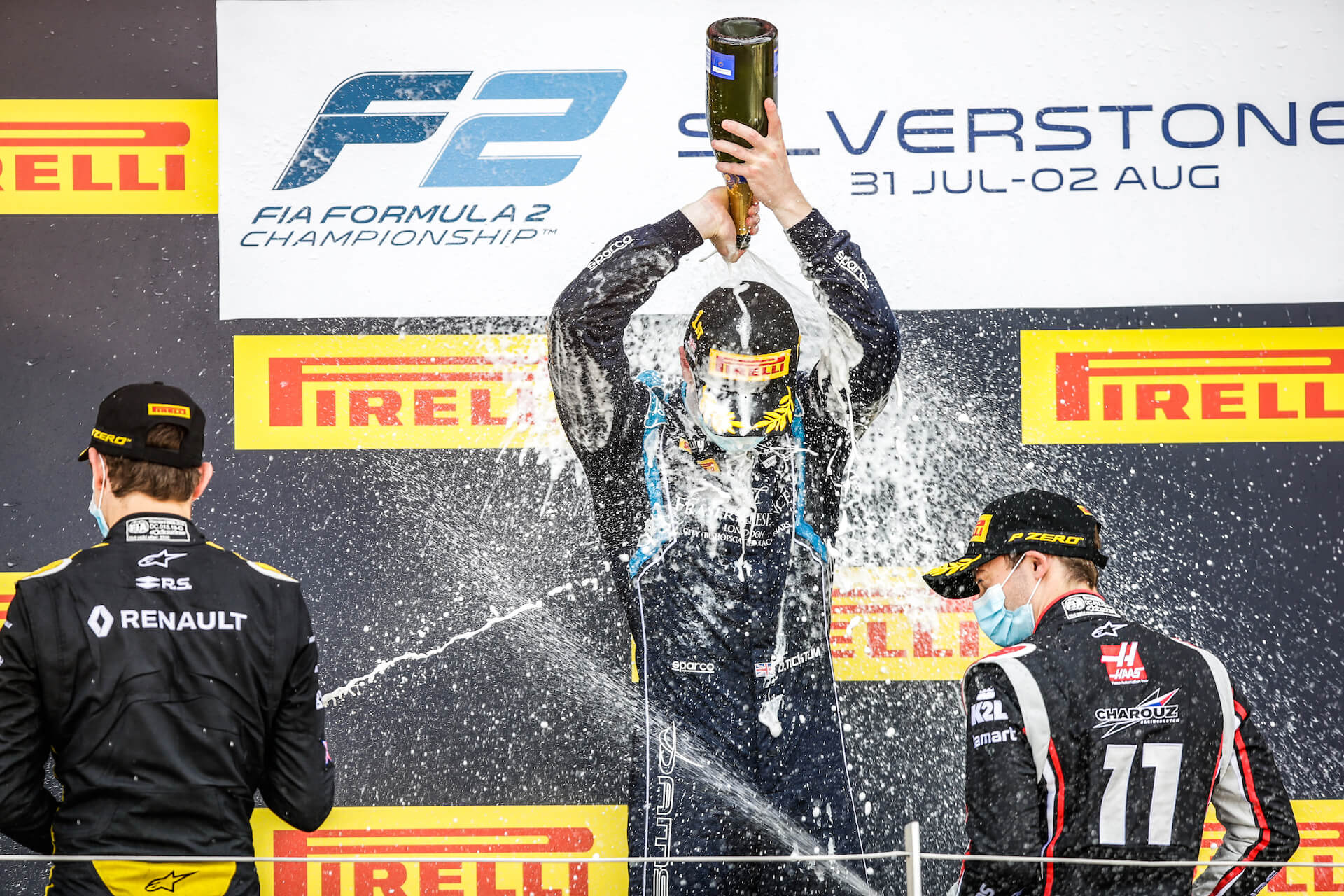 Dan Ticktum celebrates victory at Silverstone
