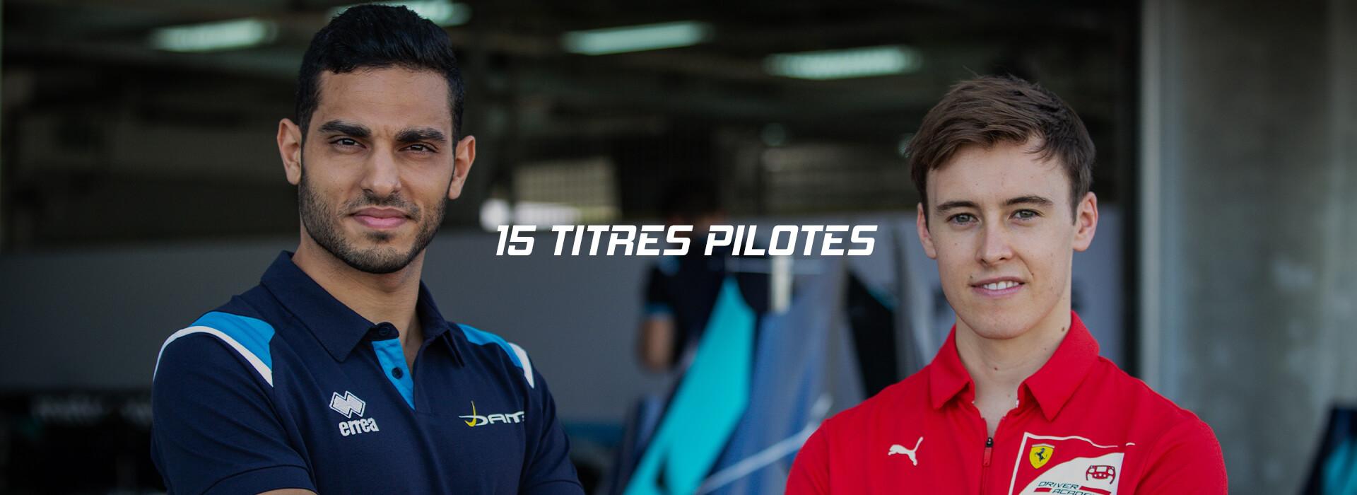 15 titres pilotes